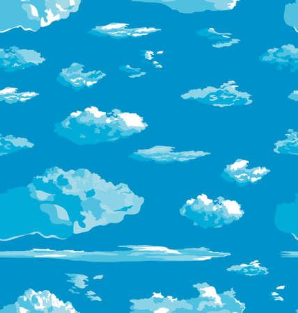 nubes cielo: Nubes. Sky. Textura incons�til del vector