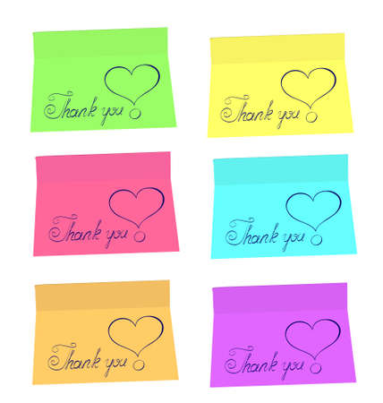 thankfulness: Thank You stickers. Vector illustration Illustration