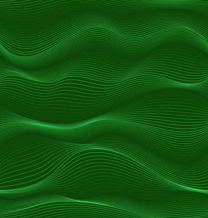 green waves.