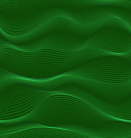 waves: green waves.