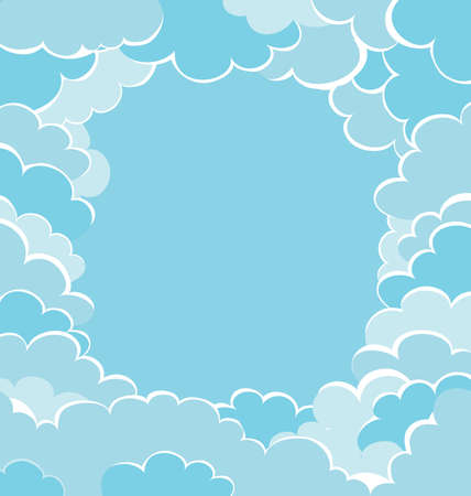sky clouds: frame of clouds. sky background template