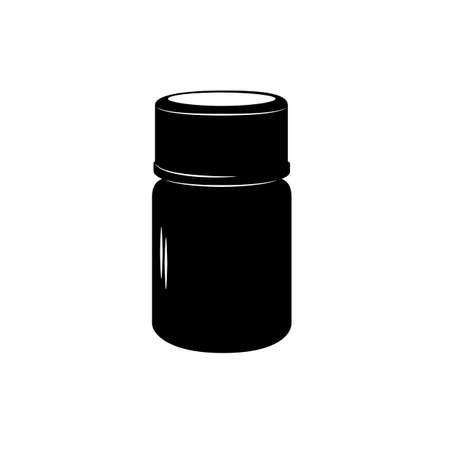 package icon: Drug package icon. Medcine bottle. Vector icon