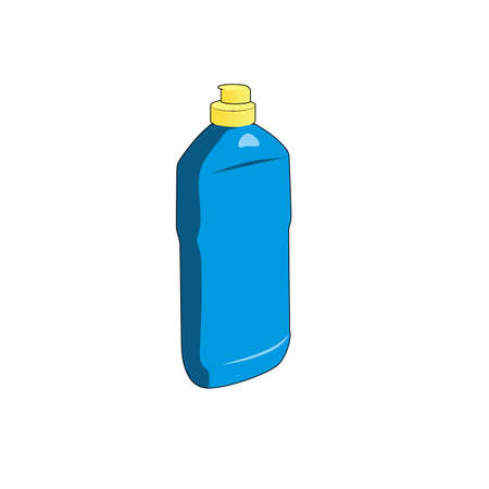 cleanser: cleanser bottle. vector isolated object