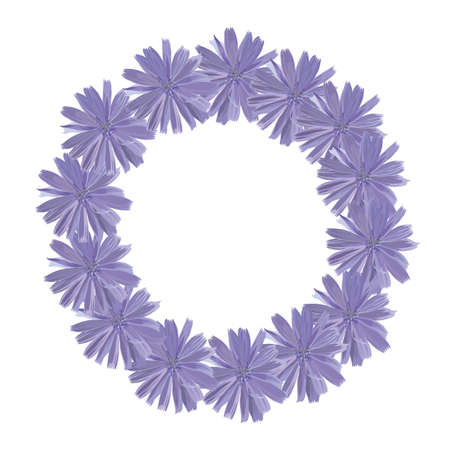 Circlet of cornflowers. Vector frame. Put your text here