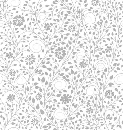 Fondo Floral Blanco. Página Para Colorear Antiestrés. Vector Sin ...