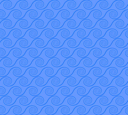 abstract spirals. vector seamless pattern. blue background