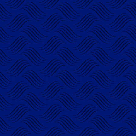Abstract ocean ON dark blue background with waves seamless vector pattern 向量圖像