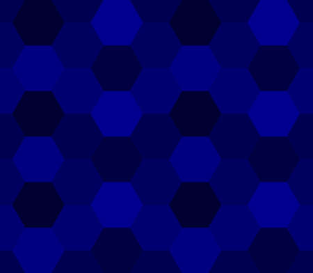 abstract geometric background. hexagon shapes. vector seamless pattern. dark blue backdrop