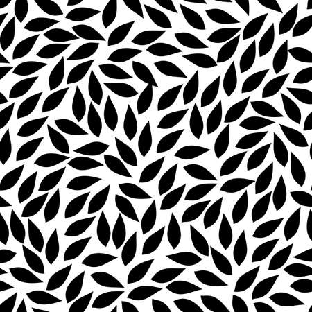 abstract leaves shapes. vector seamless pattern. simple black and white background. textile paint. repetitive background. fabric swatch. wrapping paper. modern stylish texture