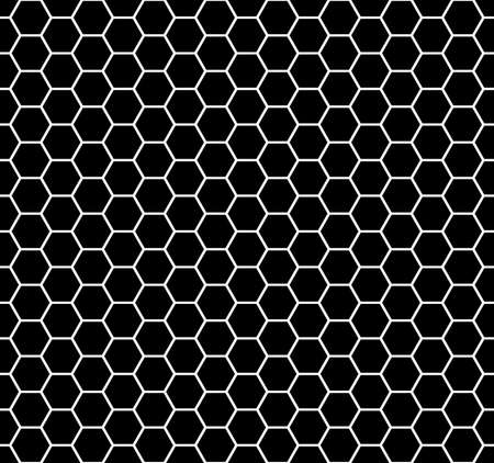 abstract geometric background. hexagon shapes. vector seamless pattern. black and white backdrop