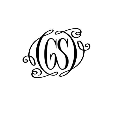 gs monogram. vector business logo. brand concept. text logotype. joint letters gs