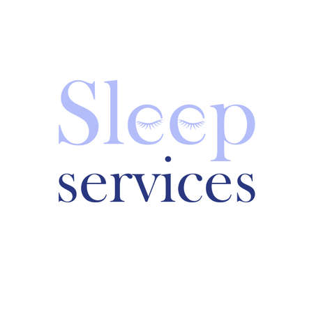 sleep services logo. vector business sign. brand concept. text and symbol logotype