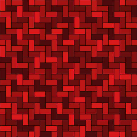 red brick wall. rectangle geometric shapes. vector seamless pattern. textile paint. simple repetitive background. fabric swatch. wrapping paper. Ilustração