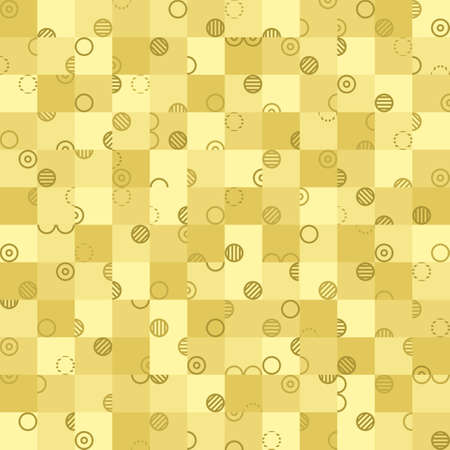 olive square and circle. vector seamless pattern. simple geometric shapes. textile paint. repetitive background. fabric swatch. wrapping paper. modern stylish texture
