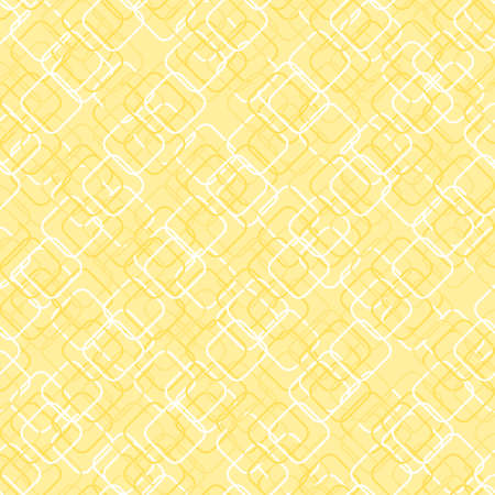 squares with round corners. vector seamless pattern. simple yellow repetitive background. textile paint.  fabric swatch. wrapping paper