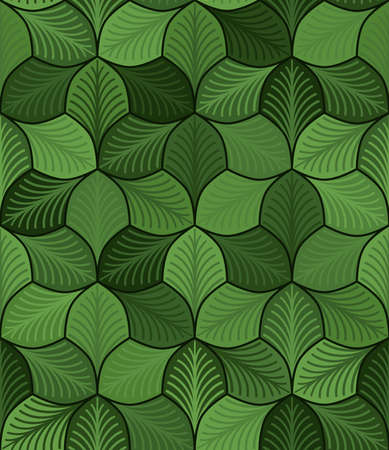simple abstract leaves with streaks. vector seamless pattern. green repetitive background. textile paint. fabric swatch. wrapping paper. continuous print