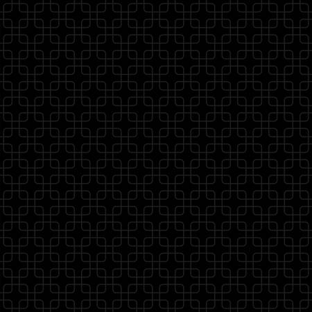 abstract square shapes. vector seamless pattern. simple black repetitive background. textile paint. fabric swatch. wrapping paper. continuous print. dark grid Ilustração