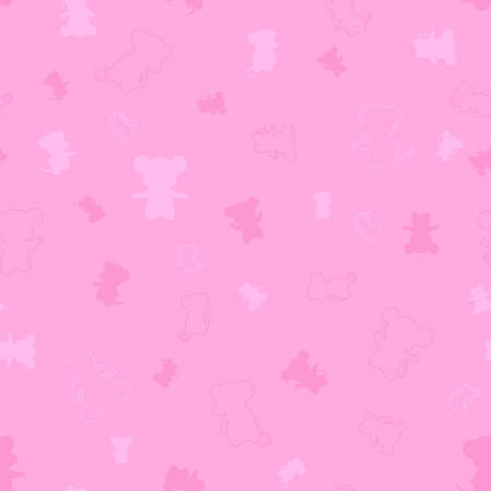 mouse silhouettes. vector seamless pattern with animals. simple pink illustration. repetitive baby background. textile paint. fabric swatch. wrapping paper. continuous print