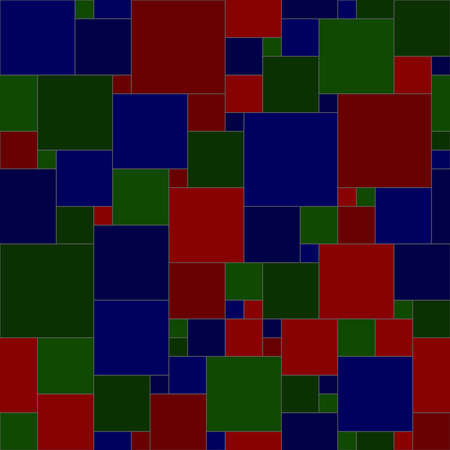 dark blue green red squares. vector seamless pattern. simple geometric shapes. textile paint. repetitive background. fabric swatch. wrapping paper. continuous print