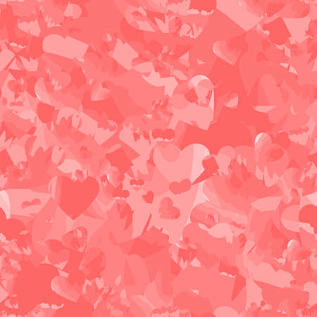 pink wedding repetitive background with motley hearts. marble vector seamless pattern. valentines day. textile fabric swatch. wrapping paper. continuous print. design element for card, ad, invitation