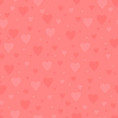 simple pink hearts repeated continuously. vector seamless pattern. valentines repetitive background. textile paint. fabric swatch. wrapping paper. continuous print. wedding design element