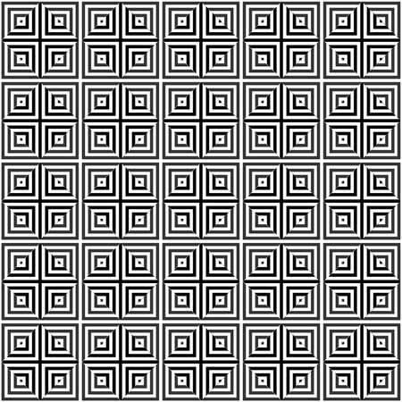 gray squares under a magnifying glass. vector seamless pattern. simple black and white repetitive background. textile paint. fabric swatch. wrapping paper. continuous print Ilustração