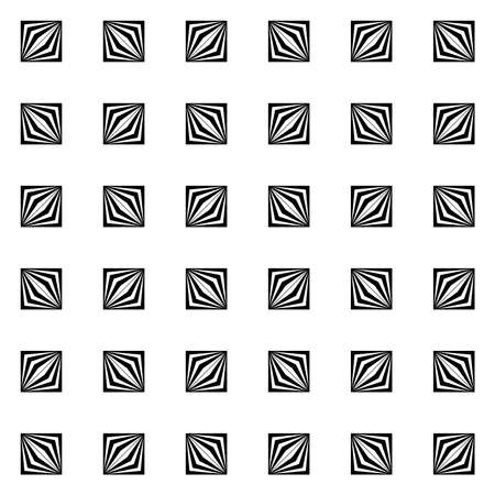 abstract geometric shapes. vector seamless pattern. simple black and white repetitive background with cubes. textile paint. fabric swatch. wrapping paper. continuous print. design element for card, ad, letter Ilustração