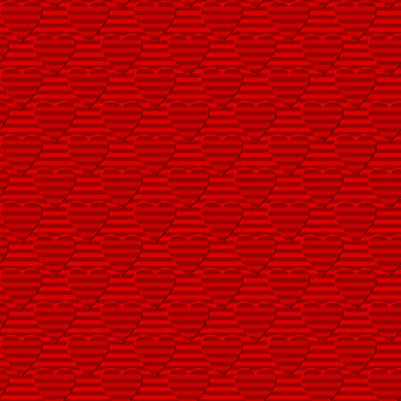 red striped hearts. simple shapes. vector seamless pattern.  valentines repetitive background. wedding texture. textile paint. fabric swatch. wrapping paper. continuous print. design element for card