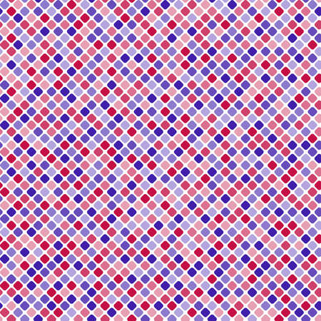 blue and red squares. vector seamless pattern. simple diagonal repetitive background with geometric shapes. textile paint. fabric swatch. wrapping paper. continuous print. design element Ilustracja