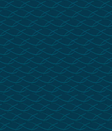 abstract decorative waves. vector seamless pattern. simple repetitive background. textile paint. fabric swatch. wrapping paper. dark blue wavy texture Stock Illustratie