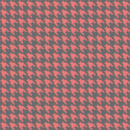 pied-de-poule. houndstooth, hounds tooth. vector seamless pattern. simple pink and gray background. textile paint. repetitive background. fabric swatch. wrapping paper. modern stylish texture. monochrome image