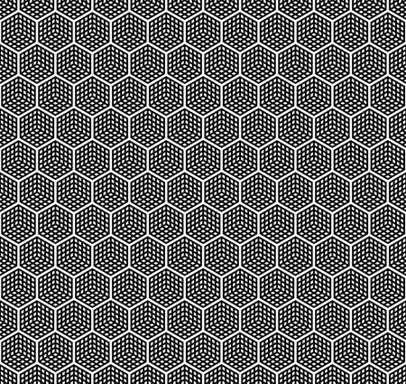 checkered cubes. vector seamless pattern. simple black and white repetitive background. textile paint. fabric swatch. wrapping paper. continuous print. design element for phone case, home decor Stock Illustratie