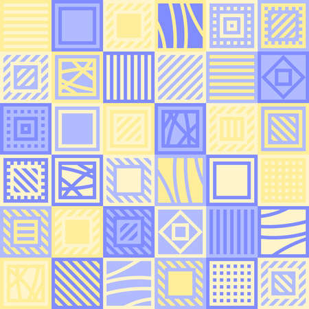 squares with lines. vector seamless pattern. patchwork simple repetitive background. textile fabric swatch. wrapping paper. continuous print. design element for home decor, phone case, apparel, carpet