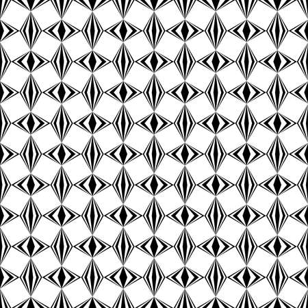 abstract black and white repetitive background with rhombus, squares. geometric seamless pattern. vector fabric swatch. wrapping paper. continuous print. design element for home decor, phone case