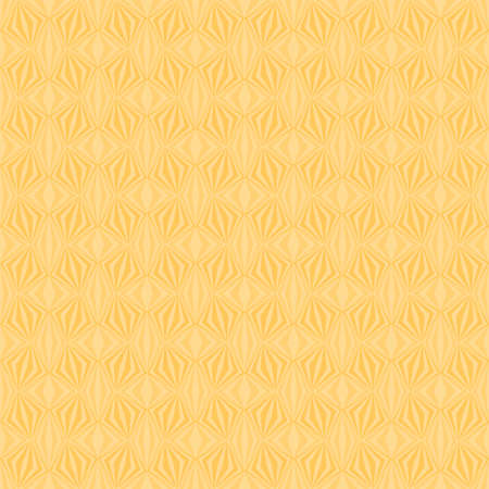 abstract yellow repetitive background with rhombus and squares. vector seamless pattern. textile fabric swatch. wrapping paper. continuous print. design element for home decor, phone case, apparel Stock Illustratie