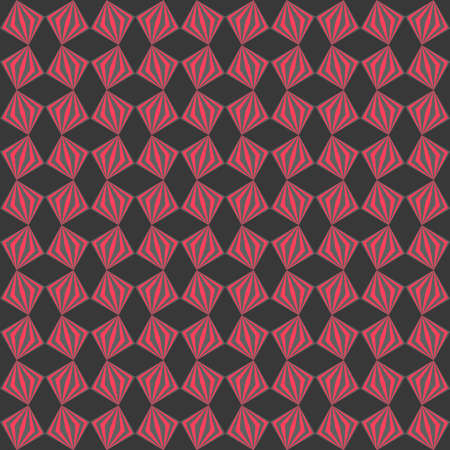 vector seamless pattern. pink and gray repetitive background with rhombus and squares. textile fabric swatch. wrapping paper. continuous print. design element for home decor, phone case, apparel