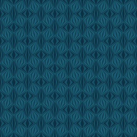 abstract dark blue repetitive background with rhombus and squares. vector seamless pattern. textile fabric swatch. wrapping paper. continuous print. design element for home decor, phone case, apparel