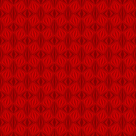 abstract red repetitive background with rhombus, squares. vector seamless pattern. textile fabric swatch. wrapping paper. continuous print. design element for home decor, phone case, apparel Stock Illustratie