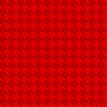 abstract geometric shapes with shadow. vector seamless pattern. simple red repetitive background. textile fabric swatch. wrapping paper. continuous print. design element for home decor, phone case, apparel