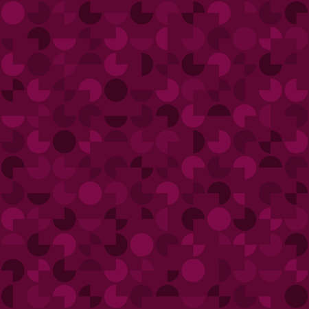 segments of circles. vector seamless pattern. abstract geometric shapes. purple repetitive background. continuous print. fabric swatch. wrapping paper. design element for home decor, phone case, apparel