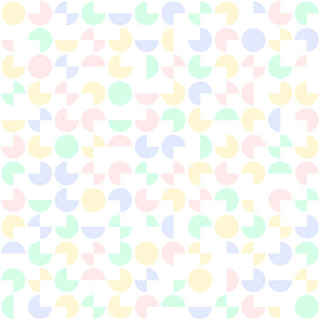 segments of circles. vector seamless pattern. abstract geometric shapes. baby repetitive background. continuous print. fabric swatch. wrapping paper. design element for home decor, phone case, apparel Stock Illustratie
