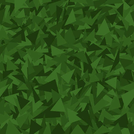 green triangles. simple geometric shapes. vector seamless pattern. chaotic repetitive background. textile fabric swatch. wrapping paper. continuous print. design element for decor, phone case, apparel
