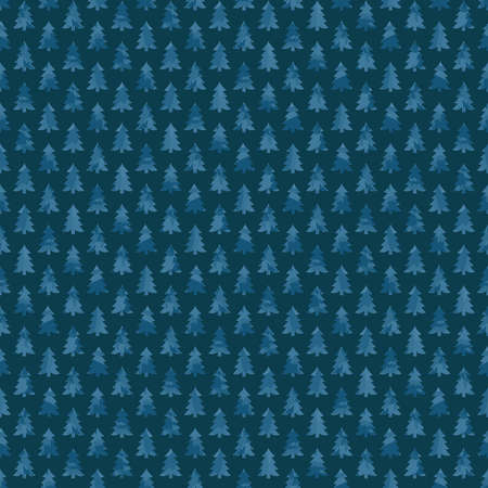 blue fir-trees. winter illustration. repetitive background. vector seamless pattern. continuous print. fabric swatch. wrapping paper. decorative element for textile, home decor, greeting card, apparel 矢量图像