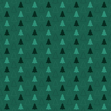 simple fir-trees. green repetitive background. vector seamless pattern. continuous print. fabric swatch. wrapping paper. decorative element for textile, home decor, greeting card, apparel 矢量图像