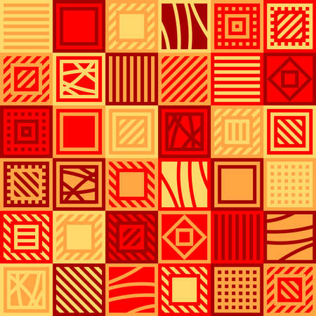 squares with lines. vector seamless pattern. patchwork repetitive background. fabric swatch. wrapping paper. continuous print. design element for home decor, textile, phone case, apparel, carpet