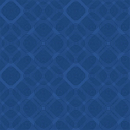 blue repetitive background. vector arcs. abstract seamless pattern. fabric swatch. wrapping paper. continuous print. geometric shapes. design element for textile, decor, apparel, phone case 矢量图像