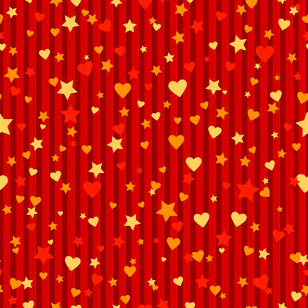 hearts and stars. vector seamless endless pattern. valentine repetitive striped corrugated background. fabric swatch. wrapping paper. continuous print. design element for textile, greeting card, banner