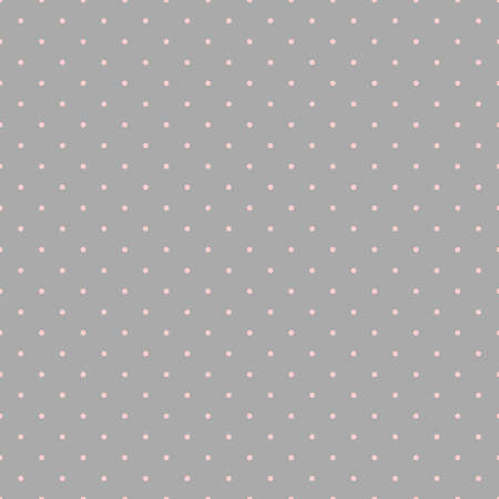 polka dots. gray baby repetitive background with pink circles. vector seamless pattern. classic stylish texture. fabric swatch. wrapping paper. continuous print. design template for textile, apparel