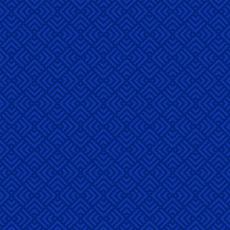 blue squares and triangles. vector seamless pattern. geometric repetitive background.