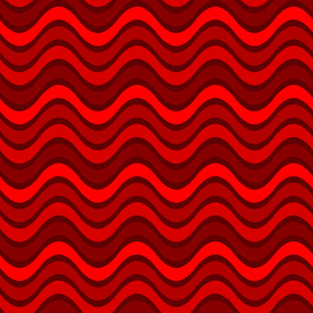 abstract red waves. vector seamless pattern. simple wavy repetitive background. fabric swatch. wrapping paper.